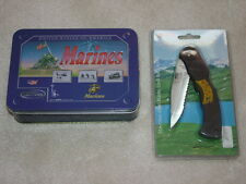 USMC Marine Sporting Knife & Other Folding Knife Lot of 2 New in Box
