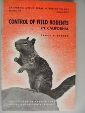 1947 Usa Control Of Rodents In California - Agriculture Publications