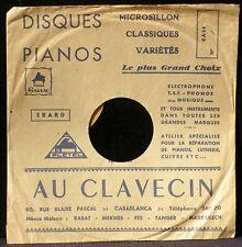 Pochette cover Au clavecin Casablanca 10'' EX+