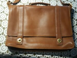 EXTRA LARGE AUTHENTIC COACH COMPUTER WORK  TRAVEL FLYING BAG LUGGAGE