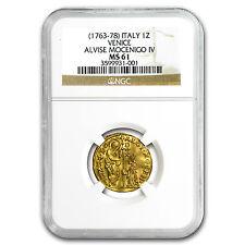 1763-1778 Venice Gold 1 Zecchino Alvise Mocenigo IV MS-61 NGC - SKU #93855