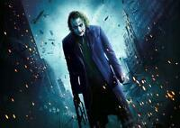 THE JOKER Batman Dark Knight Heath Ledger DC Wall Art Print Photo Poster A3 A4