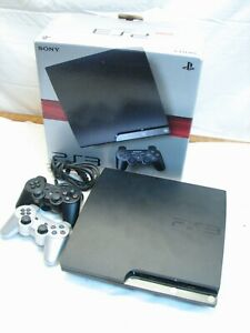 Sony PlayStation 3 250GB System Console 2 Controllers PS3 Slim CECH-2001B