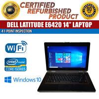 """C Grade Dell Latitude E6420 14"""" Intel i5 4 GB RAM 320 GB HDD Win 10 WiFi Laptop"""