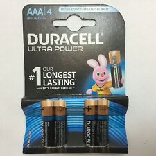 4 X DURACELL AAA BATTERIES 1.5v LR03 / MX2400 ULTRA POWER power check BB 2027