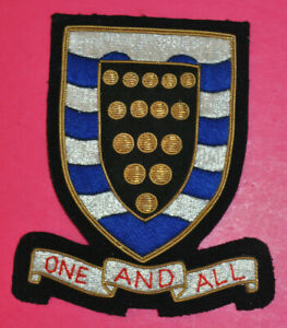 County of Cornwall bullion wire blazer badge