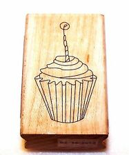 NEW Stamp CUPCAKE Wood and Rubber INKADINKADO #97426 Invitation Cards Crafts