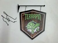 """Terrapin Beer Company Athens GA Hanging Two Sided Sign 20"""" x 22"""""""