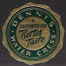 Usa Cinderella stamp: Dennis Water Cress, Cultivated for better Taste- dw83j