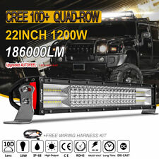 "Quad-row 20""/22inch 1200W CREE LED Work Light Bar Combo Beam Offroad Driving SUV"