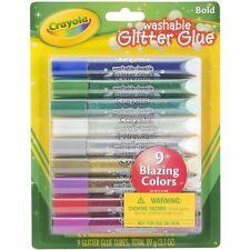 3 Packs Crayola Washable Glitter Glue Pens .35oz, Bold ~ Free Shipping