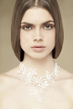 Authentic Batucada Paris Eco-Friendly Hawaii Flower Wedding Necklace Brand New