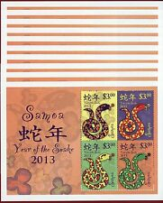 samoa 1139 ss x10 chinese new year year of snake scv 10500 - Chinese New Year 1962