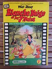AGEDUCATIF 1973 Panini album vintage BLANCHE NEIGE ET LES 7 NAINS DISNEY 17/210