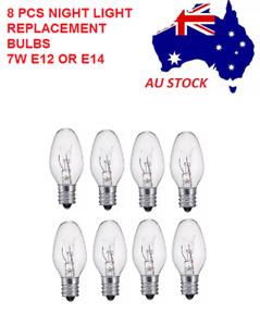 8 PCS 7W 240V E12/E14 Clear Bulbs Night Light Replacement