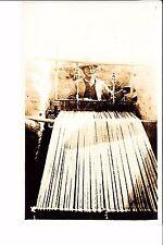 Peru Native Indian  Rug Weaver At Loom  1920s  Real Photo