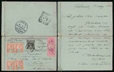 Ceylon QV cartolina 1898 in Germania registrati CARTOLERIA postale ATTRAVERSO L'ITALIA