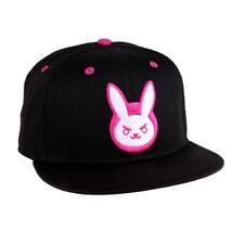 OFFICIAL OVERWATCH - D.VA PINK BUNNY BLACK SNAPBACK CAP (BRAND NEW)