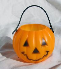 Miniature Halloween Candy Pumpkin Pail Bucket Ornament Doll Bear Toy Primitive