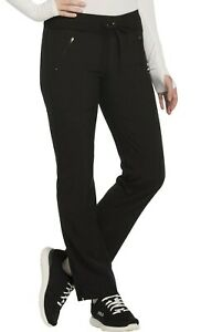 Infinity Scrubs #100 Knit Elastic Drawcord Detailed Scrub Pant in Black Size XL