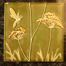Jugendstil Fliese art nouveau tile V&B DresdenTegel Insekt Biene schön rar top