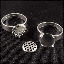Lot 2 Support Bague Rond + Grille amovible à broder 10mm