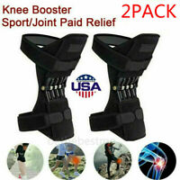 2X Anti Gravity Knee Joint Support Brace Lift Booster Leg Pad Sport Spring Force