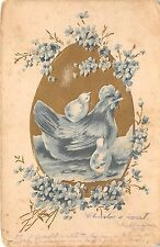 More details for bc62090 easter ostern chicken clover embossed germany