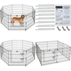 Durable Large Portable Folding Exercise Pet Playpen Dog Puppy Fences Gate Home