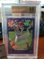 MIKE TROUT 2011 BOWMAN DRAFT CHROME PURPLE Refractor RC #101 BGS GEM MINT 9.5 10