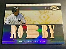 2011 Topps Triple Threads 5-Piece Game Used Bat Robinson Cano #ed 1/1