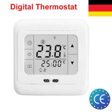 Digital Digitaler LCD Thermostat Raumthermostat Fußbodenheizung Touchscreen EU