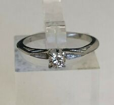 14k solid gold solitaire diamond ring 1.83g size M -  6