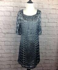 Nougat London Dress Womens Juniors 1 Shift Silk Blend Polka Dot Grey Lined