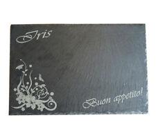 Schiefer-Tischset/Servierplatte mit Namens-Gravur (30 x 20cm)