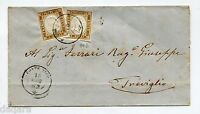 BB.121 - ITALY COVER , 1862, 10CENTS , SASSONE #14D