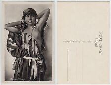 LEHNERT & LANDROCK,Mädchen Orient Bedouine Arab girl nude EthnicType  RPPC c1920