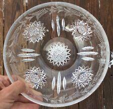 Sinclaire Cut Glass Etched Bowl