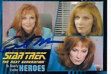 GATES McFADDEN SIGNED 2013 STAR TREK HEROES & VILLAINS #6 CRUSHER - CONVENTION