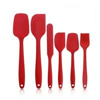 Silicone Cooking Kitchen Utensils Set Non Stick Spatula Cookware Baking Tool 6pc