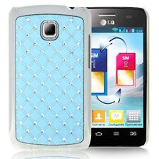 Hardcase Bling Diamond für LG Optimus L3 II E430 in hell blau Hülle Case Cover