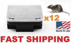 12 x PRO RAT MOUSE RODENT BAIT STATION Lockable Tamper & Weather Proof Traps USA