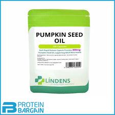 Lindens Powerful PUMPKIN SEED OIL 300mg (100 capsules) Mens Health supplment
