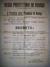 MANIFESTO DECREE CONSEGNA AI GRANAI DEL POPOLO OTTOBRE 1945 WAR ALLIES (b18-7)