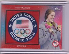2016 TOPPS OLYMPIC MISSY FRANKLIN TEAM PATCH CARD ~ /25 ~ USA SWIMMING GREAT