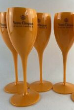 💋Veuve Clicquot Champagne Orange FLUTES X4💋