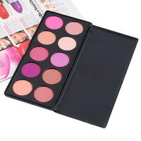 10 Colors Blush Blusher Powder Makeup Palette Pink Rose Nude Cosmetic Get SY