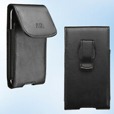 For Motorola Moto G Droid Maxx 2 Holster Belt Loop Clip Leather Pouch Case Cover