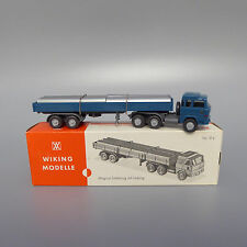 Wiking Modelle Magirus Sattelzug mit Ladung Truck Trailer with pipes 51s OVP (1)