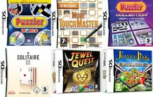 Nintendo DS Video Game Buy 1 or Bundle Up Puzzle Jewel Quest Solitaire Puzzler